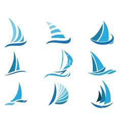Sailboat symbol set vector 1536784 - by pangeran on VectorStock®