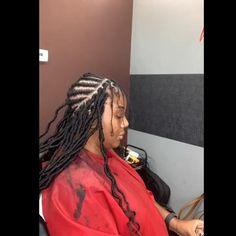 Box Braids Hairstyles, French Braid Hairstyles, African Hairstyles, Girl Hairstyles, Hairstyles 2018, Crochet Twist Hairstyles, Hairstyles Videos, Bandana Hairstyles, Curly Crochet Hair Styles