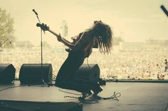 Delila Paz Playing bass at Rock Werchter, Werchter, Belgium. July 7, Belgium, Bass, Rock, Concert, Music, Women, Stone, Women's