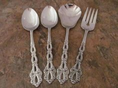 Oneida chandelier stainless steel betty crocker flatware from oneida chandelier set of 4 serving pieces spoon community stainless lot d aloadofball Images