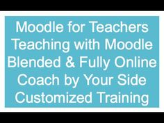 Quick video, how to use Moodle in the classroom.