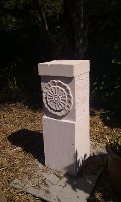 Hebel block sculpture