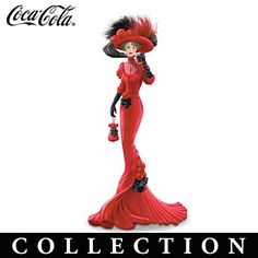 Coca-Cola Advertising-Inspired Elegant Woman Figurines