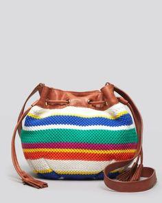 UGG Australia bright strip crochet bag
