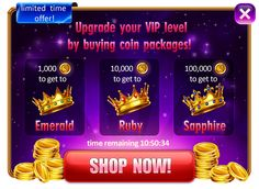 Development of promotional screen, crowns, buttons and interface. https://www.behance.net/gallery/30971709/Promotional-crowns