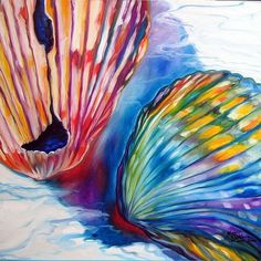 seashell drawings | Art: SEASHELL ABSTRACT II by Artist Marcia Baldwin