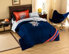 Oklahoma City Thunder NBA Bed in a Bag (Contrast Series)(Twin)