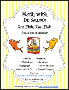This is a great packet to use with Dr. Seuss's One Fish, Two Fish book, or you can use it all year round on its own! You will need to buy the box o...