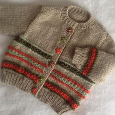 Autumn Colours baby cardigan knitting project by Mary E Baby Knitting Patterns, Baby Cardigan Knitting Pattern Free, Crochet Baby Cardigan, Baby Patterns, Baby Pullover, Baby Coat, Crochet For Boys, Baby Sweaters, Autumn Colours