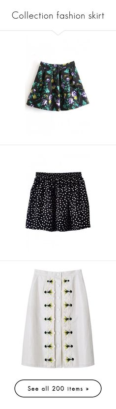 """""""Collection fashion skirt"""" by janjanzira-1 ❤ liked on Polyvore featuring skirts, mini skirts, bottoms, floral skirts, back zipper skirt, mini skirt, a line mini skirt, cotton skirts, bh and bhalo"""