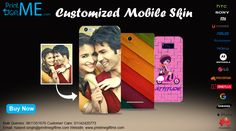 Make Custom Mobile Phone Stickers with Photo & Text Printed @ www.printmegiftme.com/accessories/mobile-skin