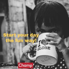 Start your day the fun way! - The best way to start a day? Drinking coffee with a silly face smiling at you from your mug! Personalized Photo Mugs, Custom Photo Mugs, Custom Mugs, Day Drinking, Drinking Coffee, Thank You Typography, Ways To Wake Up, Silly Faces, Latin Food