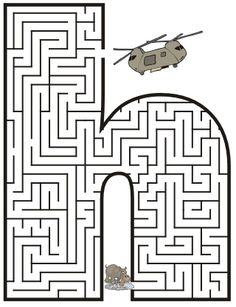 FREE PRINTABLE MAZES~  This site has letters of the alphabet, happy face mazes, and lots of others!