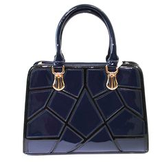 This gorgeous Faux Patent Abstract Designer Tote is spacious, stylish and beautiful. Comes in Navy Blue, Burgundy, Beige and Back designs for your taste.$108.00