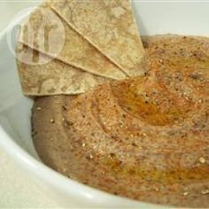 Hummus de frijoles negros @ allrecipes.com.mx