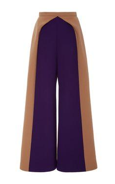 Colorblock Wide Legged Trousers by DELPOZO for Preorder on Moda Operandi