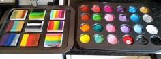 Baking trays and muffin pans! Magnetic, and easy to clean. Clever idea by Fiona from Fiona's Faces, UK.