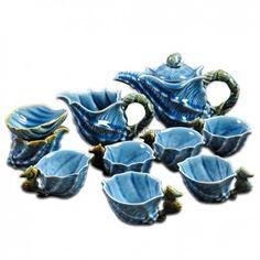 Transmutation Fancy Glazed Sea Snail Tea Set