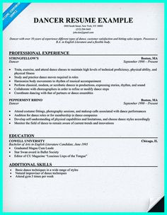 dance resume can be used for both novice and professional dancer most job of dancer - Most Professional Resume