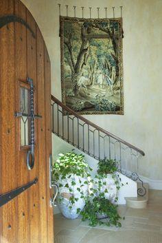 Love the wood door, lots of plants.
