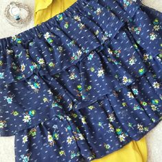 """~*Sassy & Fun Mossimo Supply Co. Skirt*~ *I love this skirt!! Just like my title says..it is definitely fun & sassy. Has skirt length zipper w/elastic band for super comfort (Picture 2). Modeled (Picture 3). Length is 16"""".100% Polyester. Excellent condition. Ask any questions. Happy Poshing!!* Mossimo Supply Co Skirts Midi"""