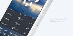 Morning Rain - iOS Weather App by Roberto Nickson, Very well designed.