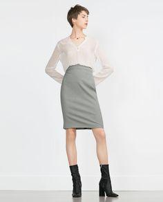 a way to bring femininity to work | SILK BLOUSE from Zara