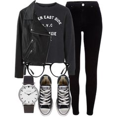 Untitled #5534 by laurenmboot on Polyvore featuring Topshop, Acne Studios, River Island, Converse and Ray-Ban