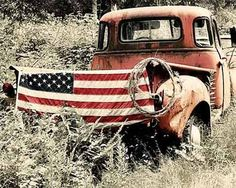 Cool Americana photo of a vintage truck! Just our style!