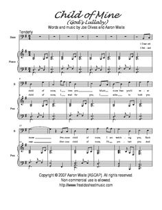 Child Of Mine S Lullaby By Aaron Waite Vocal Solo