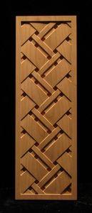 Design for sliding door? Carved Wood Panels - Pattern #30 - Tartan Wave