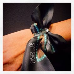 """""""Be a Greek for a while*"""" silk ribbon specially designed for Katerina Ioannidis Contemporary Jewellery, by Grecian chic!"""