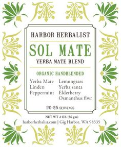 Sol Mate Invigorating Yerba Mate Tea Blend by harborherbalist