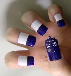 TARDIS nails - Doctor Who?