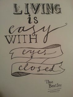 #hand lettering #quote #beatles