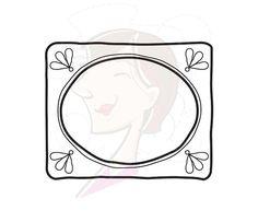 Decorative Doodle Frames Borders Digital Clip by MayPLDigitalArt, $5.90