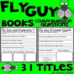 Comprehension Questions for 31 Fly Guy books by Tedd Arnold!! Also, includes a fact and opinion activity. Please let me know if there is a book you would like me to add!Titles include:Fly Guy Presents Sharks Fly Guy Presents Space Fly Guy Presents Dinosaurs Fly Guy Presents Insects Fly Guy P... Comprehension Questions, Reading Comprehension, Teacher Resources, Teacher Pay Teachers, Classroom Resources, Kevin Henkes Books, Valentines Day Book, Fact And Opinion, Fly Guy