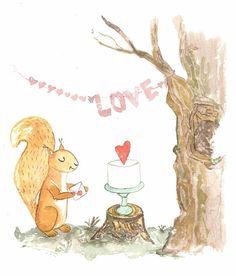 watercolor illustration Love Artist: Maryna Kovalchuk  instagram.com/dyvokolir