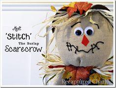DIY Burlap Scarecrow