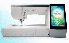 New Janome Horizon Memory Craft 15000 is a dream machine. It connects wirelessly to an iPad. You have to look! We're an all-Janome studio and just love their products. | Sew4Home