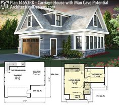 Architectural Designs Carriage House Plan 14653RK. Use it for your cars. For a guest house. Or as your own man cave. Ready when you are. Where do YOU want to build?