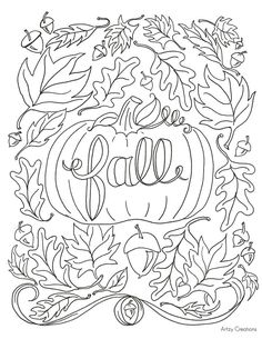 Free Fall Coloring Pages Printable - Coloring Home | 305x236