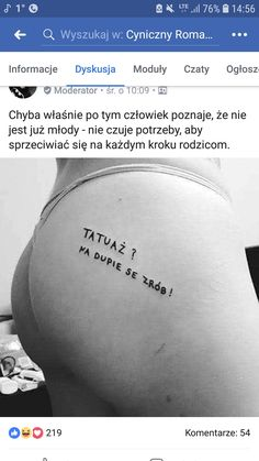 Polish Memes, Everything And Nothing, Describe Me, Tattoo Inspiration, Tatoos, Tattoo Quotes, Haha, Jokes, Humor