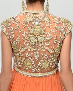 Gota Tilla Embellished Long Kalidar Suit by Preeti S. Kapoor