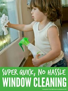 Clean windows quickly and naturally ... the no hassle way to clean windows super quickly without nasty chemicals