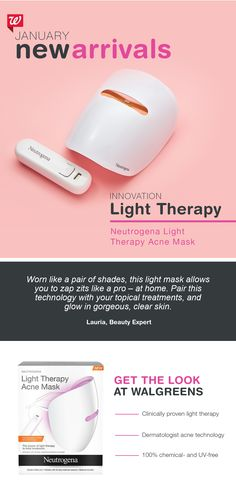 Neutrogena Light Therapy Acne Mask targets both bacteria and inflammation to effectively reduce breakouts. Treat skin for 10 minutes daily, each mask activated for 30 days.