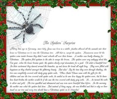 Christmas Spider Legend Poem | Christmas Traditions From My Family To Yours ~ The Christmas Spider!