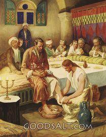 Cristo lavando los pies de los discípulos