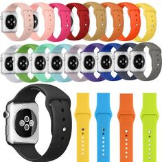 Replacement Silicone Wrist Sport Band Strap For Apple Watch Silicone/rubber Two-piece Unisex Cute Apple Watch Bands, Apple Watch 38, Apple Watch Iphone, Apple Band, Apple Watch Series, Apple Watch Accessories, Iphone Accessories, Cute Phone Cases, Iphone Cases
