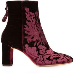 Alexandre Birman velvet ankle boots (15.466.205 VND) ❤ liked on Polyvore featuring shoes, boots, ankle booties, red, velvet boots, red boots, red ankle booties, red short boots and velvet ankle boots